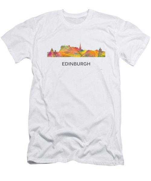 Edinburgh Scotland Skyline Men's T-Shirt (Athletic Fit)
