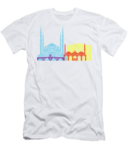 Edirne Skyline Pop Men's T-Shirt (Athletic Fit)