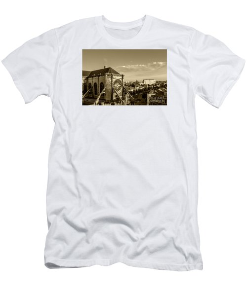 Men's T-Shirt (Slim Fit) featuring the photograph Eglise De Saint Catherine by Pravine Chester