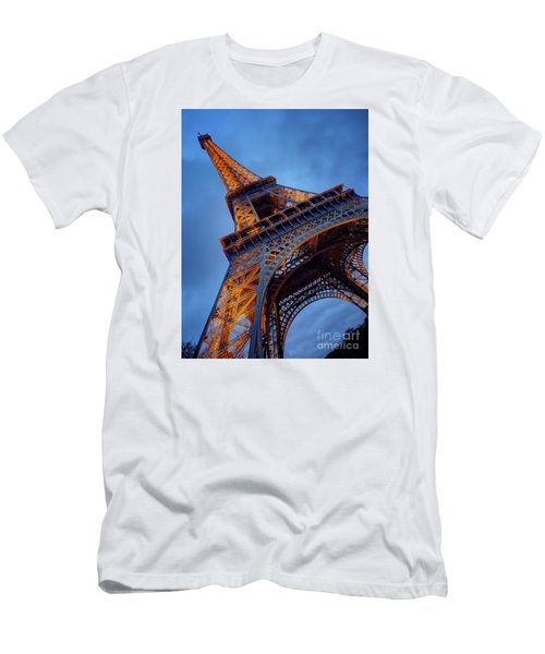 Men's T-Shirt (Slim Fit) featuring the photograph Eiffel Dressed In Gold by Kim Andelkovic