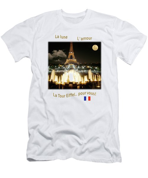 Eiffel Tower At Night Men's T-Shirt (Athletic Fit)