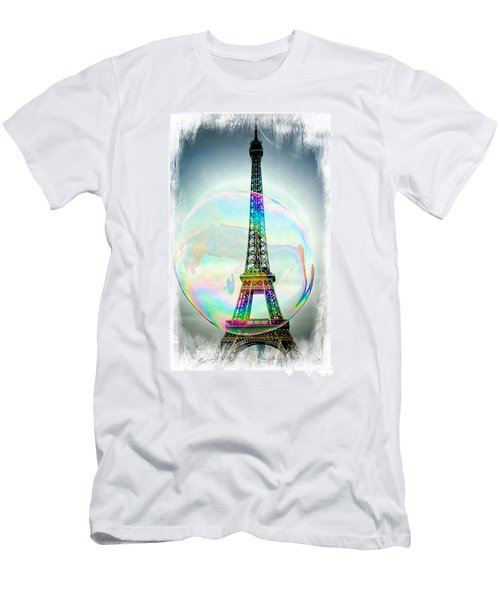 Eiffel Tower Bubble Men's T-Shirt (Athletic Fit)