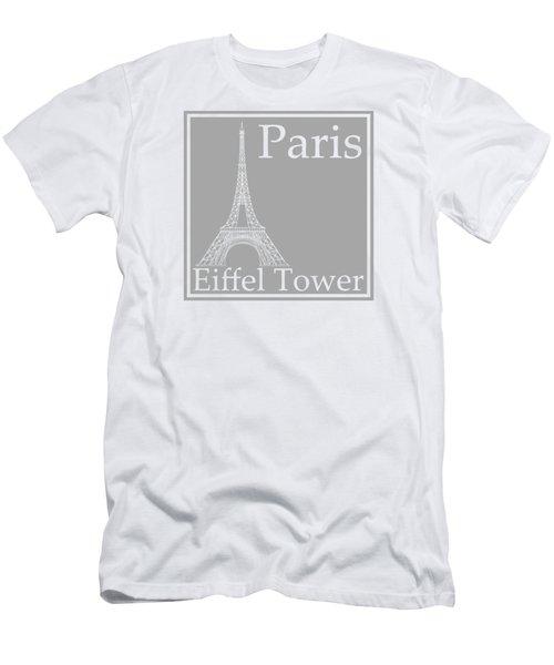 Eiffel Tower In Gray Men's T-Shirt (Slim Fit) by Custom Home Fashions