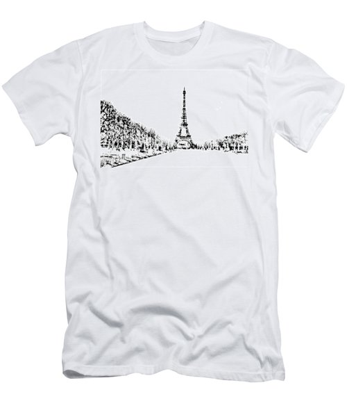 Eiffel Tower Men's T-Shirt (Slim Fit) by ISAW Gallery