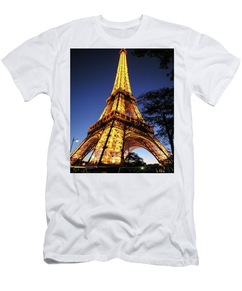 Eiffel Tower Men's T-Shirt (Slim Fit) by Jim Mathis