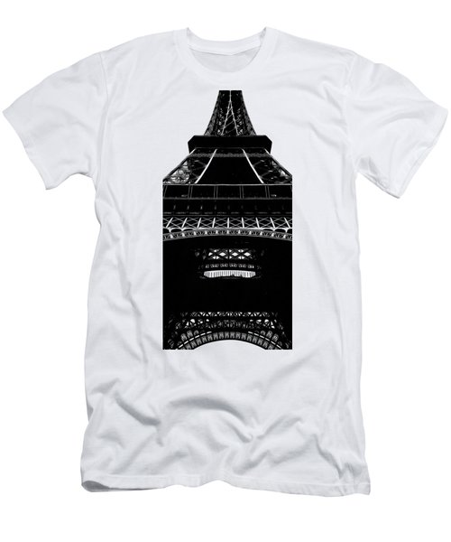 Eiffel Tower Paris Graphic Phone Case Men's T-Shirt (Slim Fit) by Edward Fielding