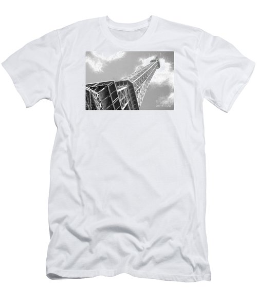 Eiffel Tower Sketch  Men's T-Shirt (Slim Fit) by Jim  Hatch