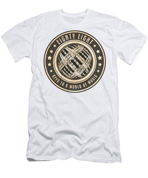 Eighty Eight Keys Men's T-Shirt (Slim Fit) by Phil Perkins