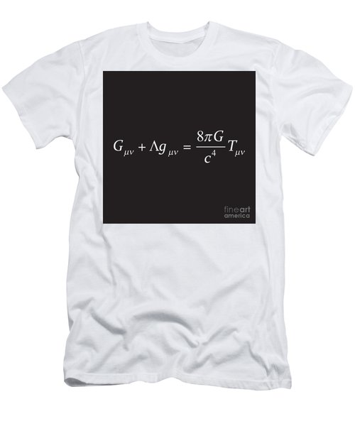 Einstein Field Equation Formula Men's T-Shirt (Athletic Fit)
