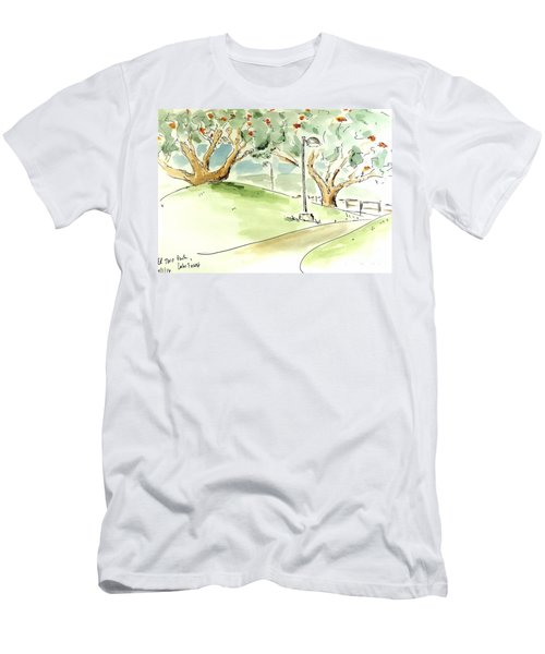 Men's T-Shirt (Athletic Fit) featuring the painting El Toro Park by Maria Langgle