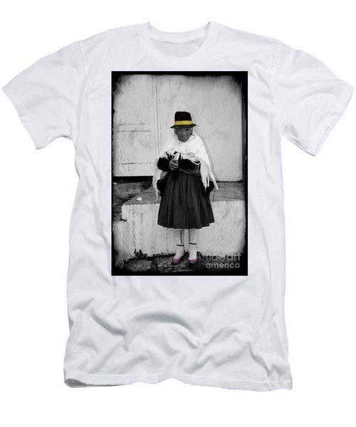 Elderly Beggar In Biblian Men's T-Shirt (Slim Fit) by Al Bourassa