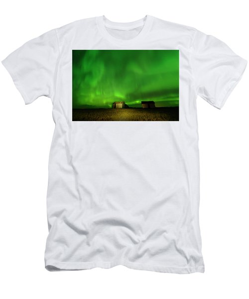 Electric Green Skies Men's T-Shirt (Athletic Fit)