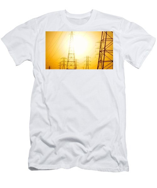 Electricity Towers Men's T-Shirt (Athletic Fit)