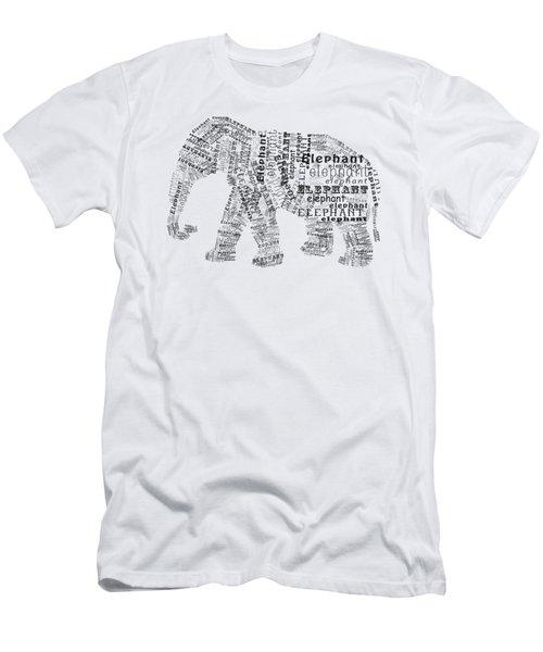 Elefont Noir Men's T-Shirt (Slim Fit) by Heather Applegate