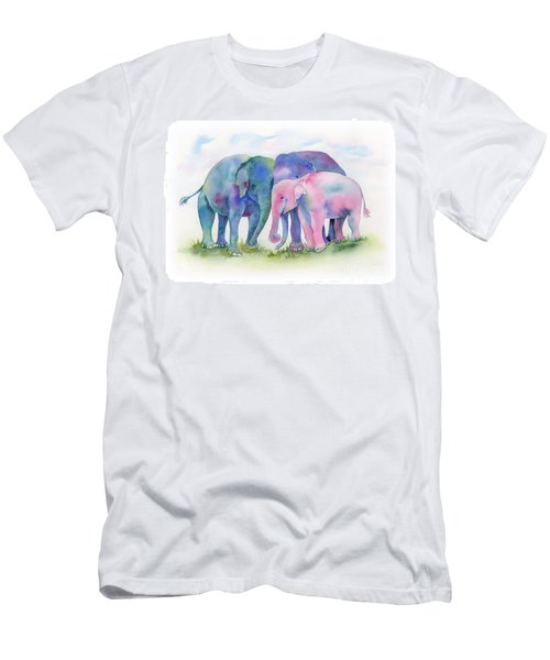 Elephant Hug Men's T-Shirt (Athletic Fit)