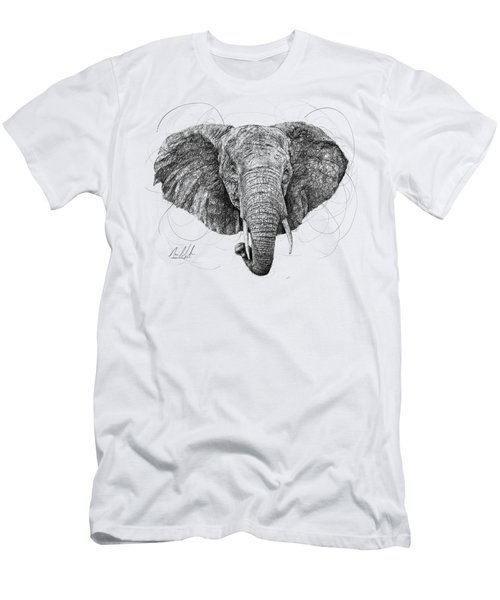Elephant Men's T-Shirt (Slim Fit) by Michael Volpicelli