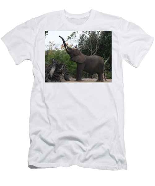 Men's T-Shirt (Athletic Fit) featuring the photograph Elephant Time by Vadim Levin