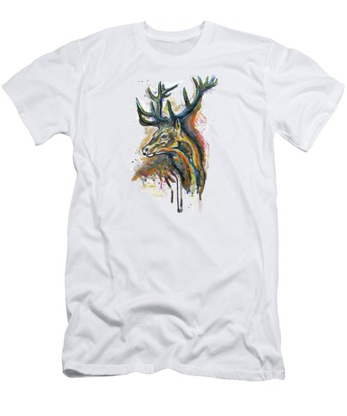 Elk Head Men's T-Shirt (Athletic Fit)