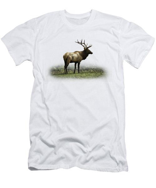 Elk IIi Men's T-Shirt (Slim Fit) by Debra and Dave Vanderlaan