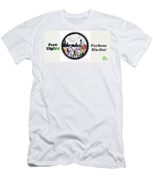 elliptiGO meets the 5 boros bike tour Men's T-Shirt (Athletic Fit)