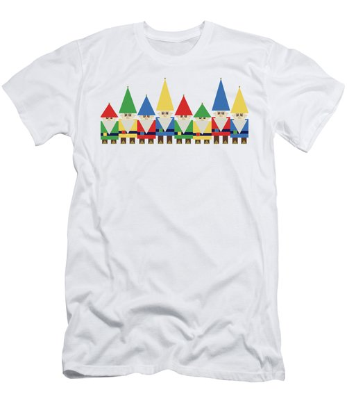 Elves On White Men's T-Shirt (Athletic Fit)