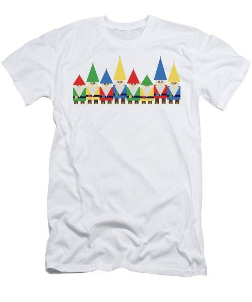 Elves On White Men's T-Shirt (Athletic Fit)