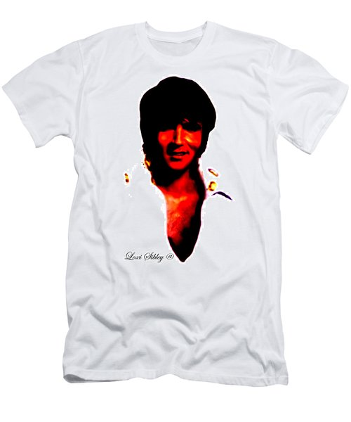 Elvis By Loxi Sibley Men's T-Shirt (Slim Fit) by Loxi Sibley
