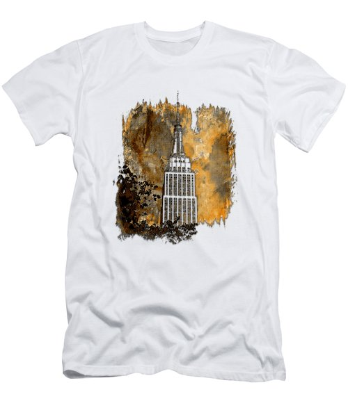 Empire State Of Mind Earthy 3 Dimensional Men's T-Shirt (Athletic Fit)