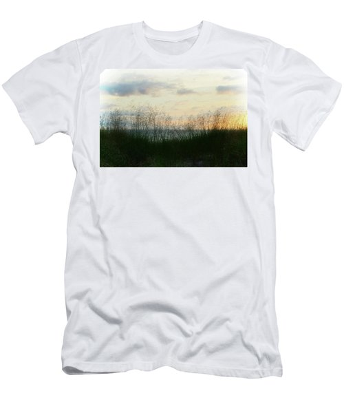 Men's T-Shirt (Athletic Fit) featuring the photograph End Of Day At Pentwater by Michelle Calkins