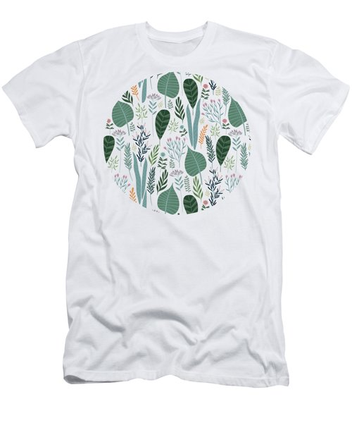 End Of Winter Spring Thaw Garden Pattern Men's T-Shirt (Athletic Fit)