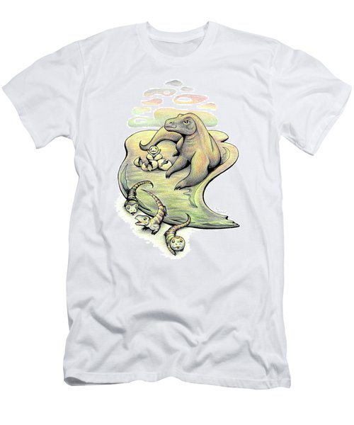 Endangered Animal Komodo Dragon Men's T-Shirt (Athletic Fit)