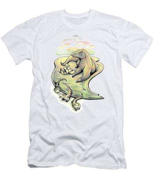 Endangered Animal Komodo Dragon Men's T-Shirt (Athletic Fit)