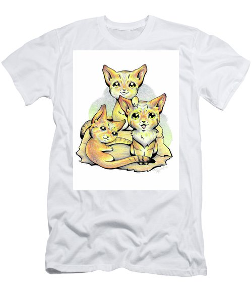 Endangered Animal Sand Cat Men's T-Shirt (Athletic Fit)