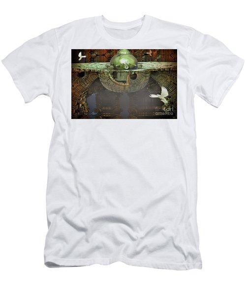 Engine Room Fractal Men's T-Shirt (Slim Fit) by Melissa Messick