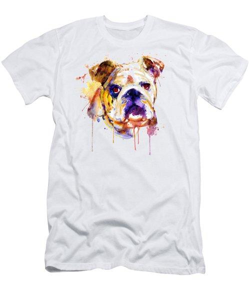 English Bulldog Head Men's T-Shirt (Athletic Fit)