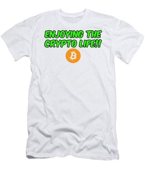 Enjoy The Crypto Life #2 Men's T-Shirt (Athletic Fit)
