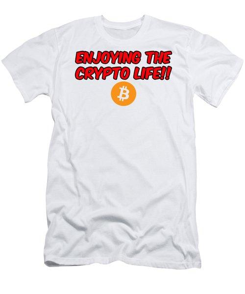Enjoy The Crypto Life #3 Men's T-Shirt (Athletic Fit)
