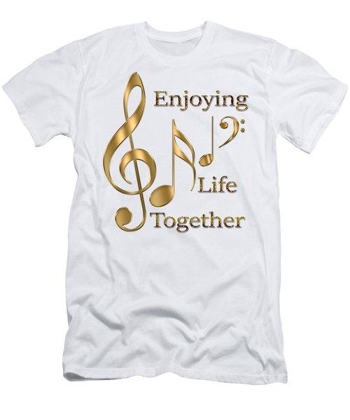 Enjoying Life Together Men's T-Shirt (Slim Fit) by Georgeta Blanaru