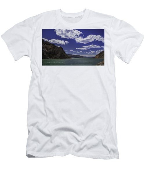 Men's T-Shirt (Slim Fit) featuring the photograph Entering Yellowstone National Park by Jason Moynihan