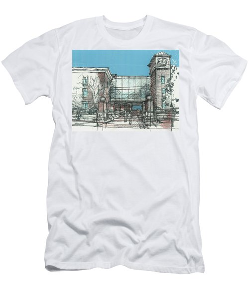 Entry Plaza Men's T-Shirt (Slim Fit) by Andrew Drozdowicz