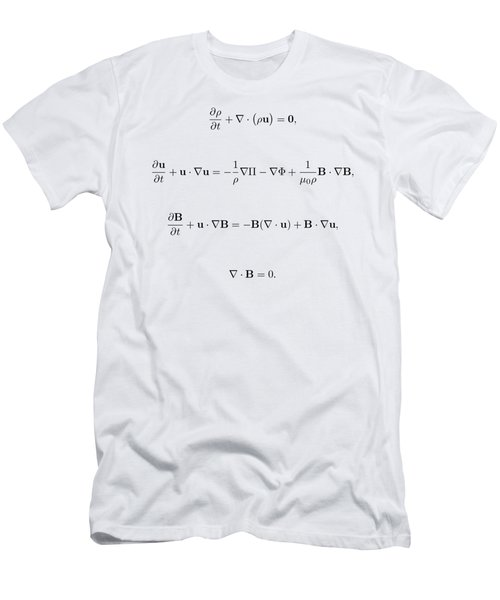 Men's T-Shirt (Slim Fit) featuring the photograph Equation by Jean Noren