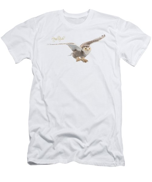 eRegal Studio Snowy Owl graphic Men's T-Shirt (Athletic Fit)