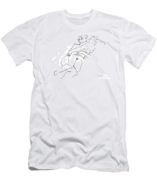 Erotic Art Drawings 13 Men's T-Shirt (Athletic Fit)