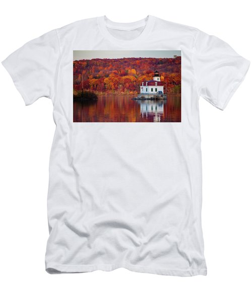 Esopus Lighthouse In Late Fall #1 Men's T-Shirt (Slim Fit) by Jeff Severson