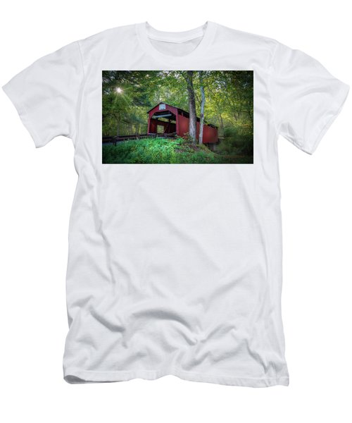 Men's T-Shirt (Slim Fit) featuring the photograph Esther Furnace Bridge by Marvin Spates