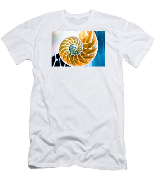 Eternal Golden Spiral Men's T-Shirt (Slim Fit) by Colleen Kammerer