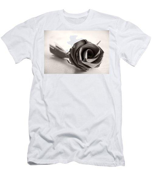 Eternal Rose In Sepia Men's T-Shirt (Athletic Fit)