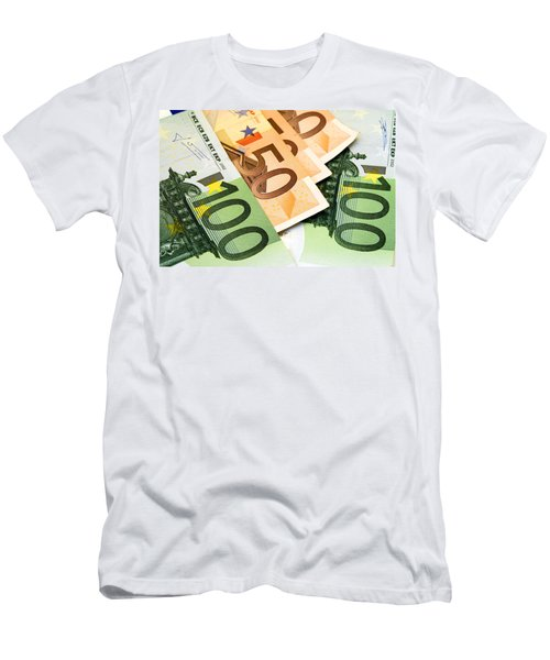 Euro Banknotes Men's T-Shirt (Athletic Fit)