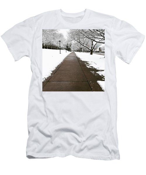 Winter Walks  Men's T-Shirt (Slim Fit) by Cyrionna The Cyerial Artist