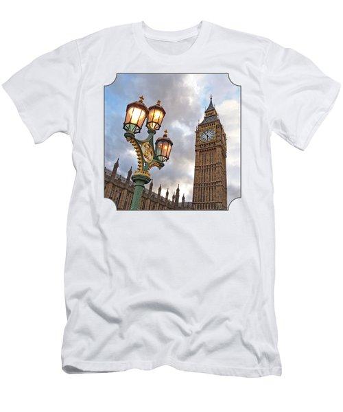 Evening Light At Big Ben Men's T-Shirt (Slim Fit) by Gill Billington